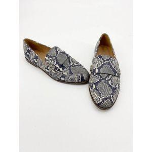 Madewell Alex Snake Print Loafers 9.5